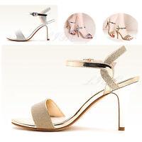 Women Glitter Slim Stiletto High Heels Strappy Sandals Pump Peep Toe Cuff Shoes