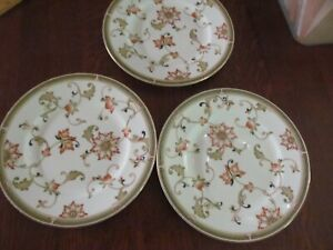 3 WEDGWOOD OBERON SALAD/ACCENT PLATE