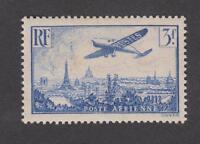 France - PA - Poste aérienne neuf ** - Avion survolant Paris - N° 12