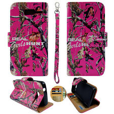 for Motorola Droid RAZR M Xt907 Wallet Leather Pink Real Girlllzzz Case Cover PR