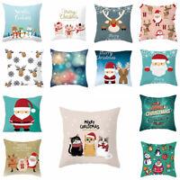 Pillow Christmas Animal Cartoon Polyester Cushion Car case Cover Home Decor
