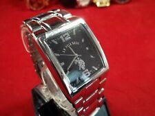 U.S. Polo Assn. Classic Men's  #USC80035 Rectangular Black Dial Metal Link Watch
