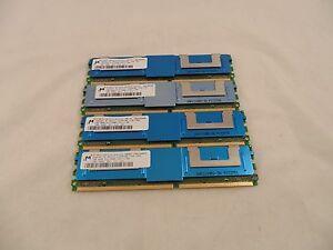 Lot of 4 Micron MT18HTF12872FDY-667D5D3 1GB PC2-5300F 667MHz CL5 ECC RAM C-7