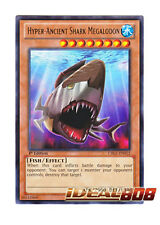 YUGIOH x 3 Hyper-Ancient Shark Megalodon - CBLZ-EN012 - Rare - 1st Edition Near