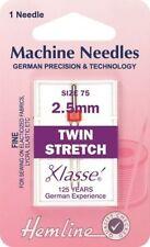 Twin Stretch Machine Needles Hemline  Available in  Fine and Medium ES