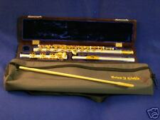 Brian J Hinkle 90SSB ProFlute Solid Silver & Gold Keys