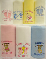 Personalised Baby Blanket  Soft Anti-Pil Fleece Lovely Birth or Christening Gift