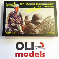 1/72 WW2 German Panzergrenadier Kursk 1943 Figures Assembly Set - Caesar 7715