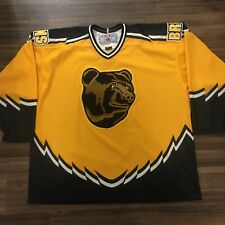 CCM Boston Bruins Pooh Bear NHL Hockey Jersey Rare Vintage Alternate Yellow XXL
