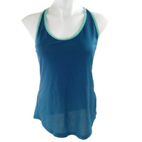 Active by Old Navy Women Small Racerback Tank Top Blue Sleeveless 001U