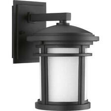 "Progress Lighting Wish Collection 1-Light 10.4""Outdoor Black Wall Lantern Sconce"