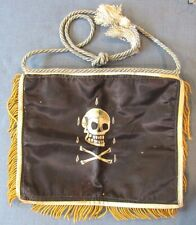 "Original & vintage, hand-painted masonic apron with ""skull & bones"" on one side"
