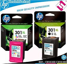 Pack Ink Black Tricolour 301xl Original Printers hp Cartridge Hewlett Packard