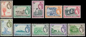 Tristan da Cunha Queen Elizabeth II & local motives 1954 * 10v.  short set