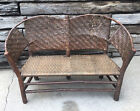 Antique Old Hickory Chair Co Martinsville Settee Bench Sturdy & Verified #106