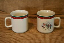 "Royal Seasons Stoneware - Snowmen / Snowman RN2 - 3 1/4""h Coffee Cups (2)"