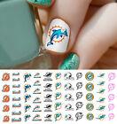 Miami Dolphins Football Nail Art Decals - Salon Quality