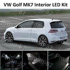DELUXE VW GOLF MK7 MKVII GTI 12-19 INTERIOR FULL WHITE LED BULBS LIGHT KIT SET
