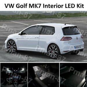 DELUXE for VW GOLF MK7 MKVII GTI 12-19 INTERIOR FULL WHITE LED LIGHT KIT SET