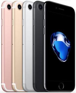 Apple iPhone 7 32GB 128GB 256GB Silver Jet Black Rose Gold Unlocked Smartphone