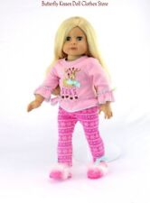 Pink Reindeer Top+ Snowflake Leggings 18 in Doll Clothes Fits American Girl Doll