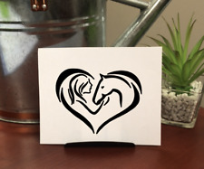 Horse Luv Decal Sticker, For Windows, Cups, Laptops & More *Free Personalization