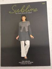 Sublime Cotton Silk D/K Design Book 15 Knitting Patterns Women 685