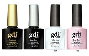 GDi Nails French Manicure Set UV LED Soak Off Gel Nail Polish Varnish - UK