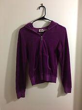 Juicy Couture Ladies Hoodie Sz Medium Pretty Purple Glitter