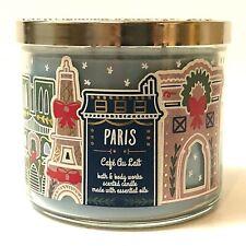 NEW 1 BATH & BODY WORKS PARIS CAFE AU LAIT 3-WICK SCENTED LARGE 14.5 OZ CANDLE