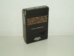 """Vintage DC Comics """"Batman"""" playing cards by Intercol London 1989 (New & Sealed)."""