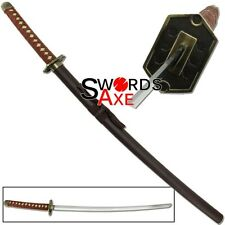 Japanese Anime Bleach Ninja Sword Samurai Katana Carbon Steel Cosplay Replica