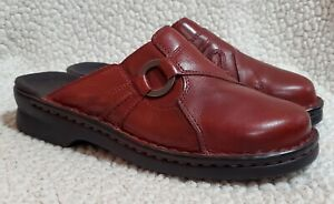 Womens CLARKS Mules Size 6M 80805 | Leather | Pre-owned