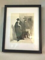 Antique French Satire Lithograph No.19 Honore Daumier 1848 Signed Law & Justice