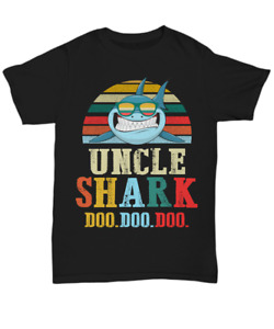 Funny Uncle Shark Doo Doo T-Shirt Gift For Uncles Tee Shirt For Men Shark Family