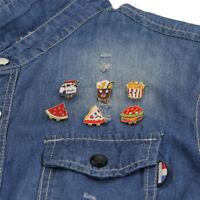 6PCS/Set Mini Enamel Brooch Pins Cartoon Collar Pins Badge Women Jewelry  M Jf