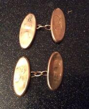 Antique 9ct Gold Birmingham Hallmark 1914 Cufflinks