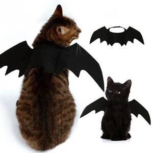 Black Bat Wings Costume Pet Dog Cat Puppy Cute Fancy Dress Clothing Halloween