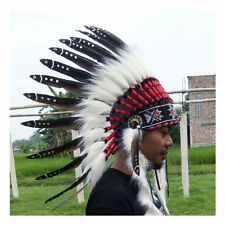 American Native Warbonnet Feather Headdress Feather Hat Chief Indian Headdress S
