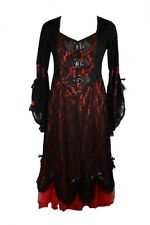 Dress Red Long Lace Size 14