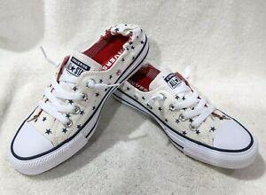 Converse Women's CTAS Shoreline White/Obsidian/Red Slip On Sneakers-Asst Sz NWB