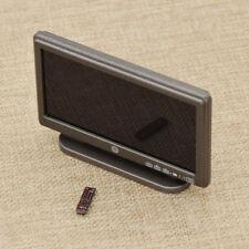 """Puppenhaus Für 12"""" Action Deko Spielzeug 1/6 Scale Mini LCD TV & Remote Control"""