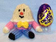 KNITTING PATTERN  - Humpty Dumpty Easter chocolate cover fits Creme Egg