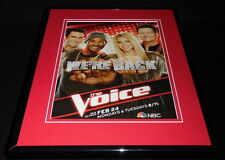 The Voice 2014 NBC Framed 11x14 ORIGINAL Advertisement Shakira Usher