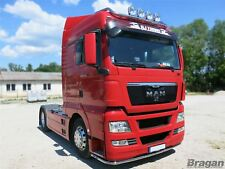 MAN TGX Stainless Steel Truck Low Light Bar Spoiler Under Bumper Lobar + 11 LED