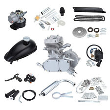 80cc 2-Stroke Cycle Silver Gas Motor Bike Motorized Engine Kit Air Cooling
