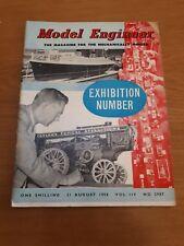 THE MODEL ENGINEER VINTAGE MAGAZINE August 21st 1958 vol 119 #2987