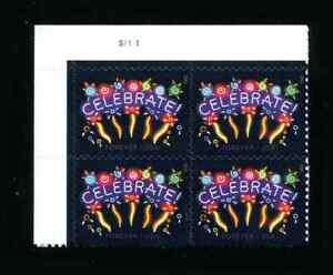 5019 Plate Block Celebrate Forever Stamp Plate Block MNH