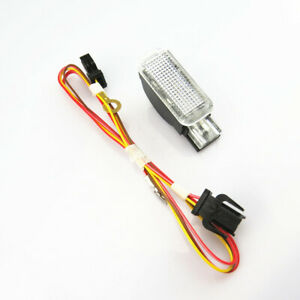 Interior Door light Trunk Illumination lamp & Wire Plug For Audi A5 A6 S6 A8 Q5