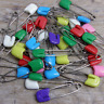 MIXED BRIGHT COLOURED BABY NAPPY / DIAPER SAFETY PINS - 5 / 10 / 20 / 50 / 100